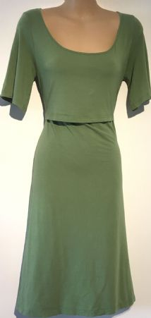 BOOB APPLE GREEN JERSEY NURSING DRESS SIZE M 10-12